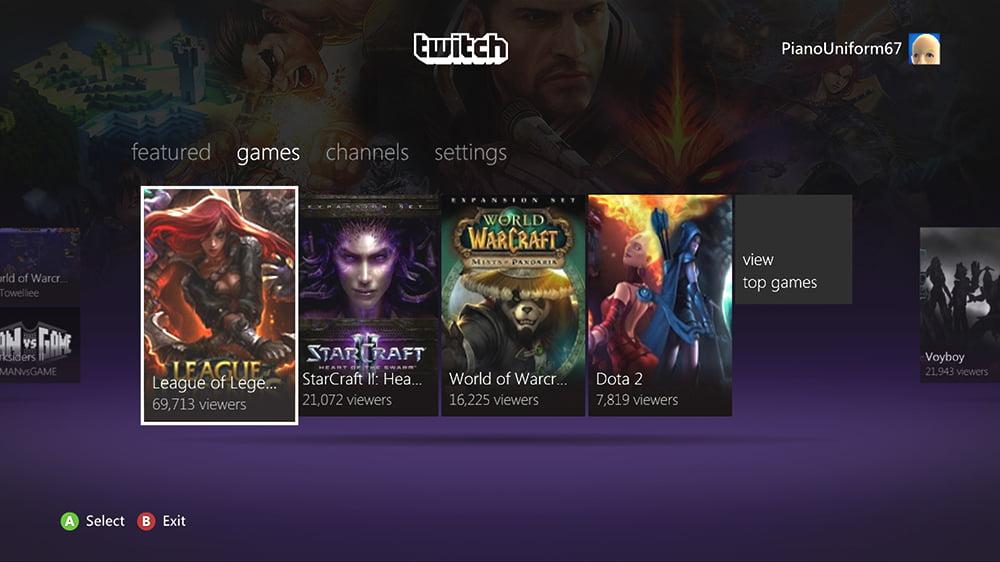 Twitch Xbox App