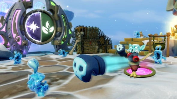 The new dual elemental gates can by passed with either a SWAP Force Skylander or two regular ones in co-op.