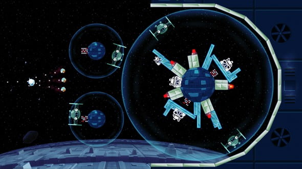 Angry Birds Space style levels make the cut for Star Wars.