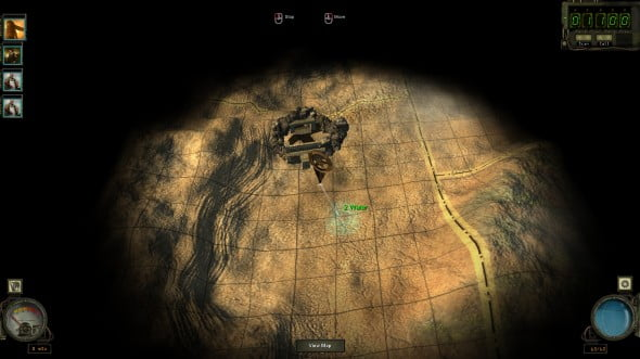 The wasteland is an open place with the only limiting factor of exploration being the amount of water the squad has and how much it fears running into higher level enemies.