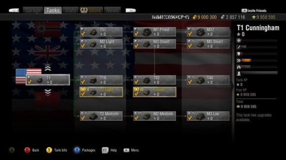 You progress through the Tech Tree on the Tanks Tab by using your Experience to research and unlock new vehicles.