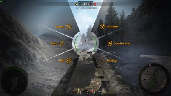 You can send visual messages to your teammates to coordinate attacks and tactics.