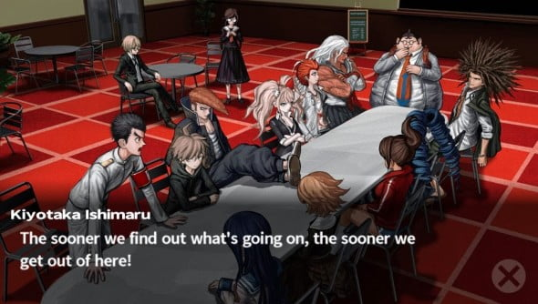 Large portions of the plot are told visual novel style.