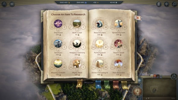 Spellbook in Age of Wonders III.
