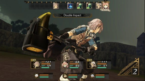 Awin, one of the six characters players can take into battle with them for attack or support.