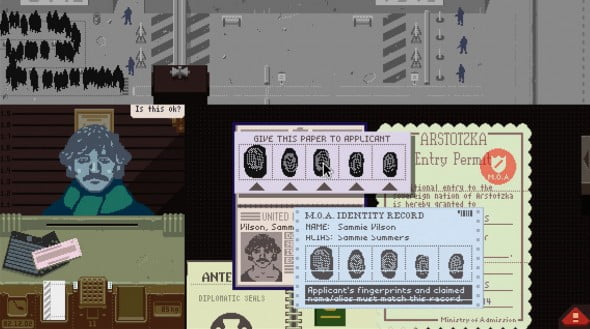 Papers, Please screen shot