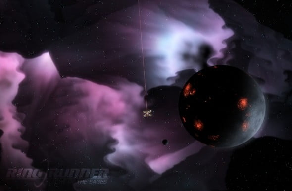 The game's backgrounds are often colorful and stylish.