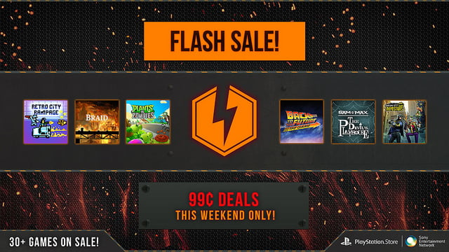 Photo of PlayStation Network Flash Sale – 30 Games for $.99 Each