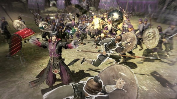 As one of the five new characters to Dynasty Warriors 8, Chen Gong provides unique gameplay with his art of war scroll that summons soldiers to fight in his place.