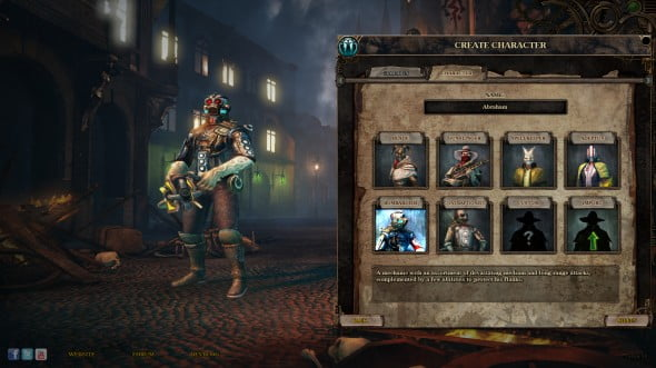 The 3 classes from the first game + DLC with 2 variations each are the default classes in Van Helsing 2.