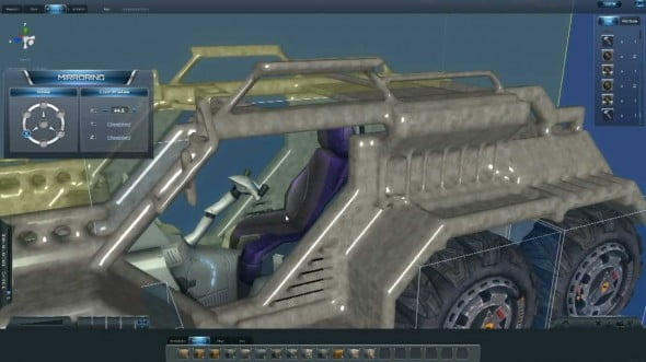 Planet Explorers features a deep building mode where you can create weapons, vehicles and a number of other items.