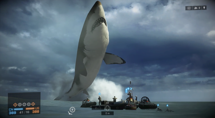Photo of Gigantic Shark Discovered in Battlefield 4