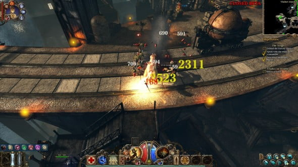 The closed beta was set in the streets of Borgovia.