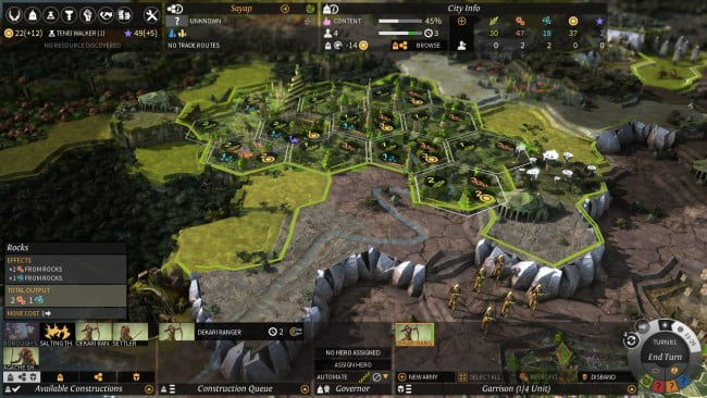Many aspects of Endless Legend will feel familiar to fans of Civilization V.