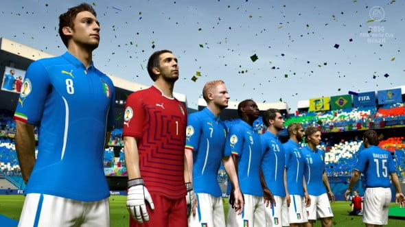2014 Fifa World Cup Brazil features solid graphics, especially the game's character models.