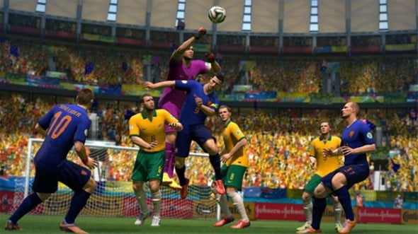 Although the game's tempo has been sped up a bit, 2014 Fifa World Cup Brazil has a similar feel to past Fifa games.