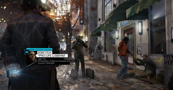 The city and it's inhabitants are all very much alive in Watch Dogs. Developers have outdone themselves in this open world adventure in regards to the environment and background characters.