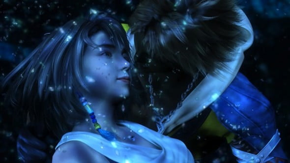 FFX-HD-Yuna-Tidus-lake-eye-contact