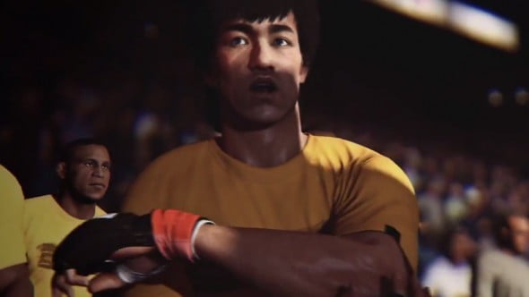 Bruce Lee is beautifully rendered and ready to kick ass.