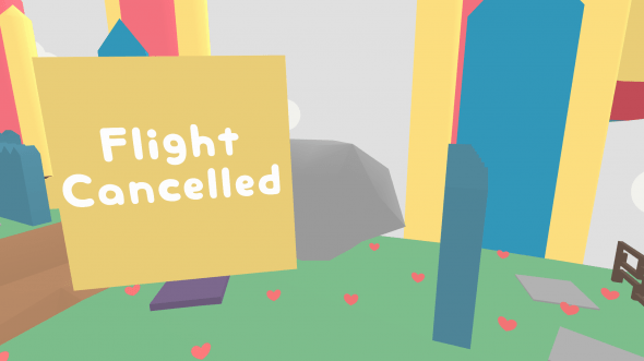 """""""Flight cancelled"""" is about as much plot as you're going to get out of this game - but that's fine, you have way more important things to worry about."""