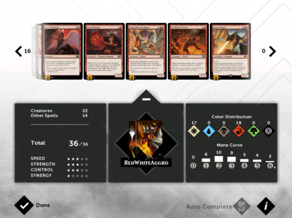 The ability to build your own deck is a huge draw of Magic 2015.
