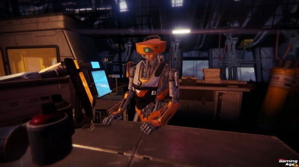 Almost every shopkeep in this game is a robot. As my character was himself a robot, I felt rather uncomfortable about my brothers in servitude.