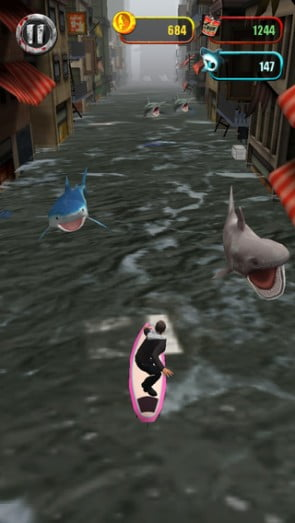 """""""Shark's up!"""" I mean, """"Surf's up!"""" I mean--*GETS CRUDELY EATEN BY A SHARK*"""