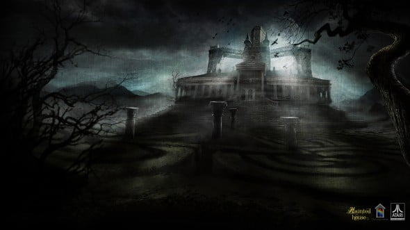 Concept art for the Haunted House showing the killer (perhaps literally?) maze!