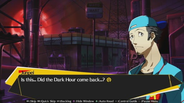 An example of the narrative style, as consistent through the Persona series.