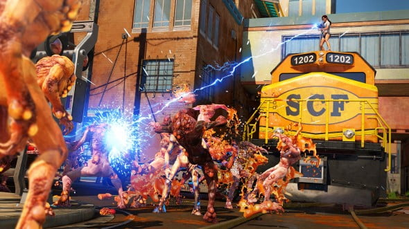 Sunset Overdrive's Zombie-esque OD are the most prevalent of enemies.