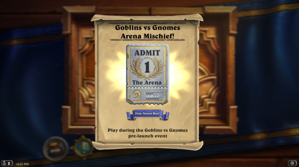 Let's Do This: Hearthstone's Gnomes vs Goblins Expansion Free to Play in Arena