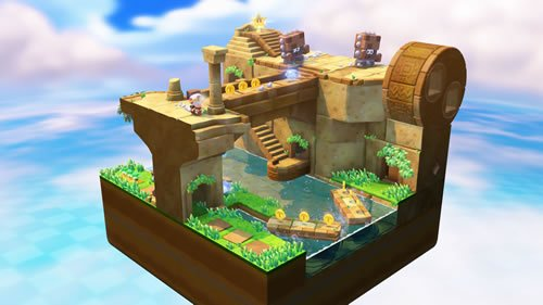 Look at all of that treasure for Captain Toad to track!