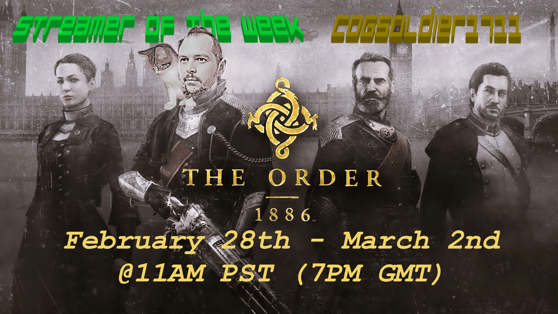 Photo of Streamer of the Week – COGSoldier1711 Plays The Order, Alien: Isolation, and Destiny