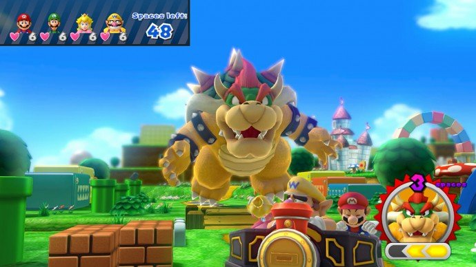 in Bowser Party, anything goes, especially cruelty towards plumbers