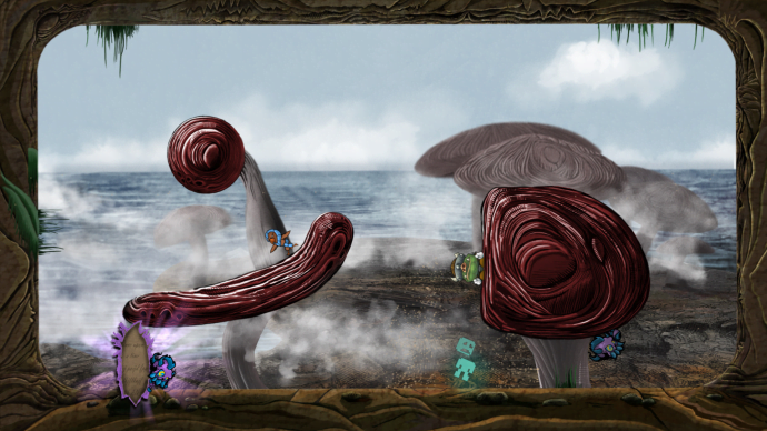 One of my favorite levels, the Mushroom Sea is such a strange, original environment that makes hitting a hiding enemy a challenge.