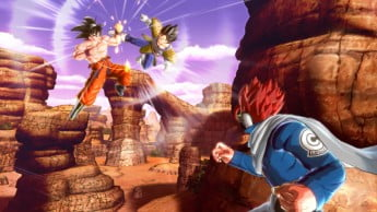dragon-ball-xenoverse-goku-vs-vegeta-and-red-haired-mystery-character