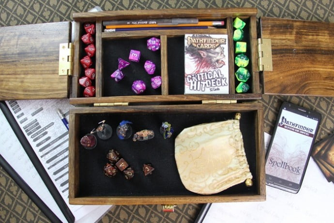 The Adventure Case provides room for dice, card games, and other tabletop accessories.