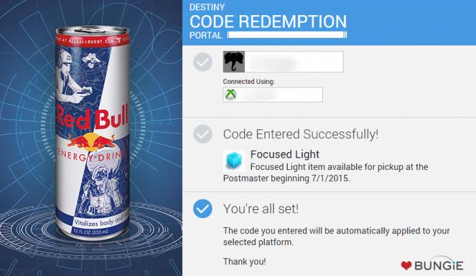 Bungie   Code Redemption