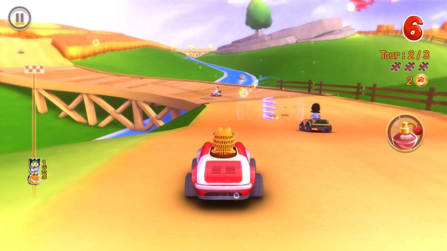 Garfield and racing, together at last!