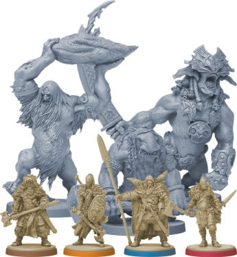 Blood Rage's figurines are incredibly detailed and extraordinarily designed.