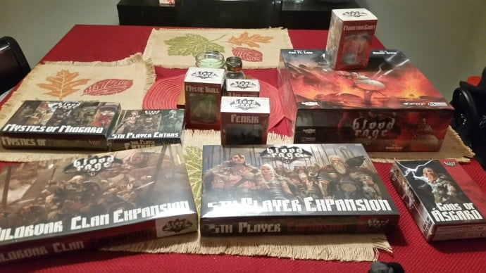 The amount of pieces that comes with Blood Rage is extremely impressive, and leads to many different tweaks and modifications to how the game is played.