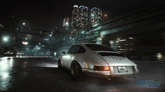 The cars are absolutely gorgeous in Need For Speed, not to mention the rain effect.