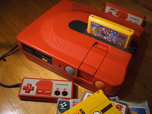 Sharp Famicom Twin system with Super Mario Bros 3