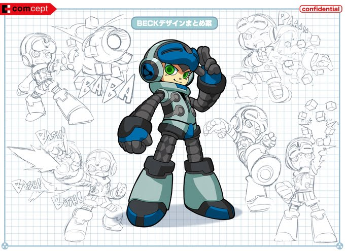 mighty no 9 concept art beck