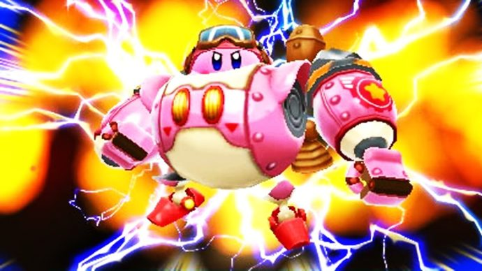 Kirby driving mech from Kirby Planet Robobot