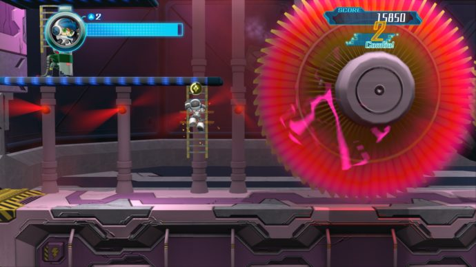 mighty no 9 electric turbine level screenshot