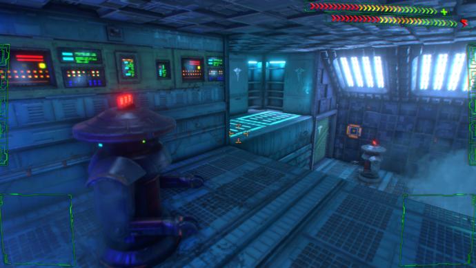 System Shock remake robot enemy screenshot