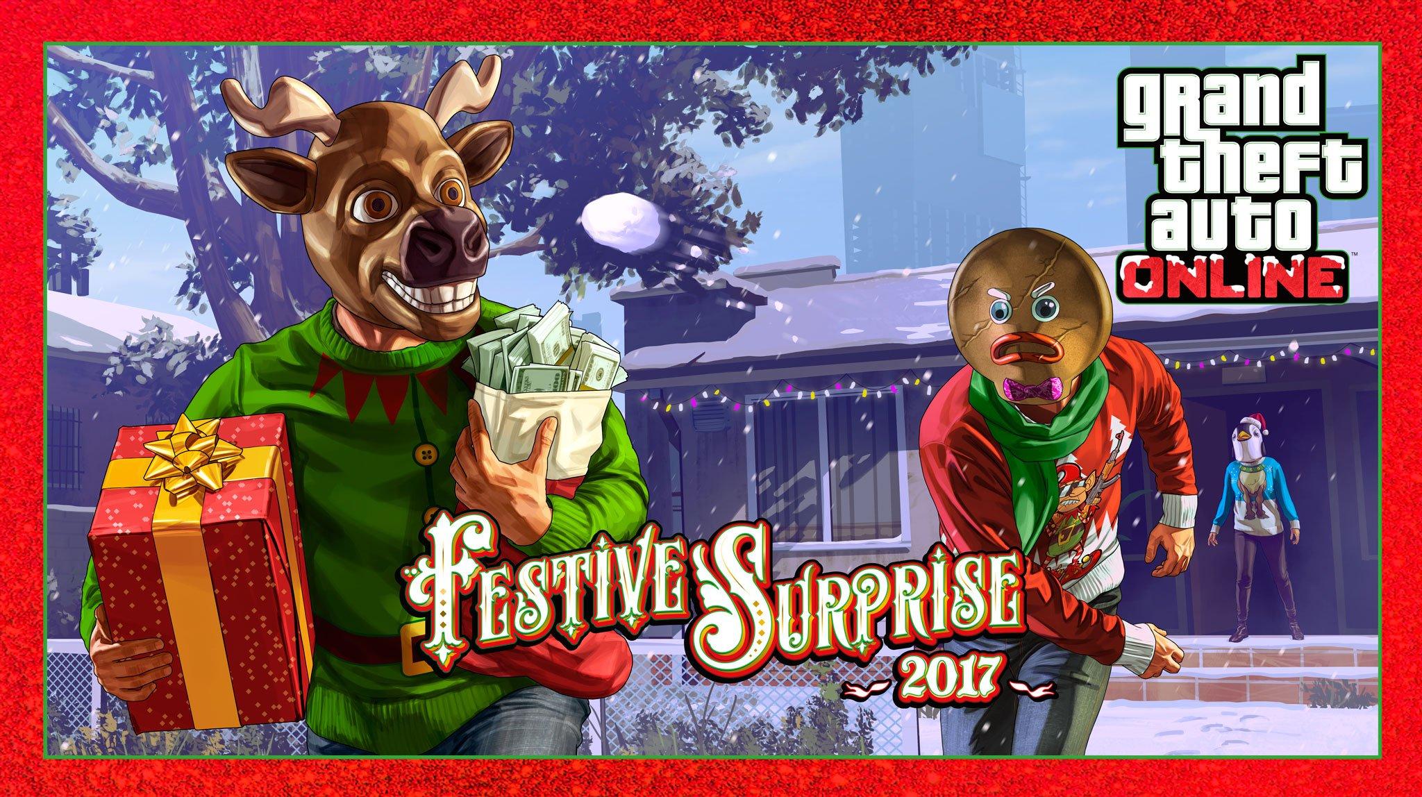 Photo of Grand Theft Auto Online's Festive Surprise 2017 Brings Snow & Discounts